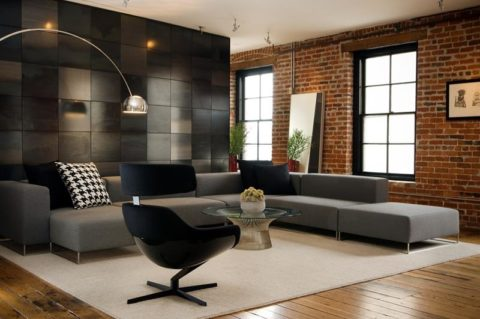 Modern living room with perfect wall theme
