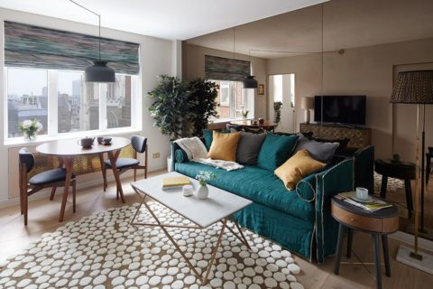 Small living room ideas with unique rugs