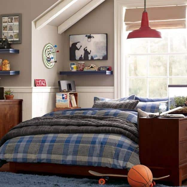 24 Modern and Stylish Teen Boys Room Ideas - Decoration ... on Teenage Room Colors For Guy's  id=79498