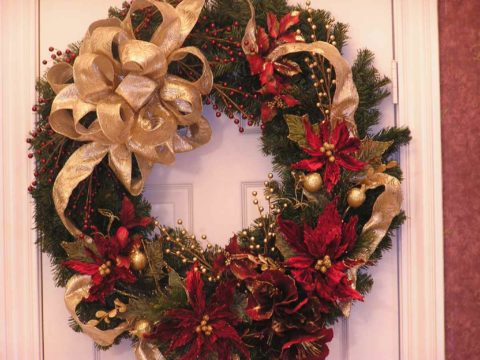 Christmas decorations for door