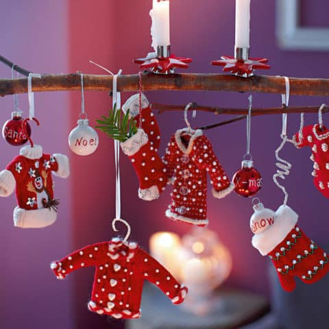Christmas decorations santa clothes