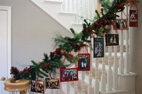 Christmas decorations with stylish hangng picture