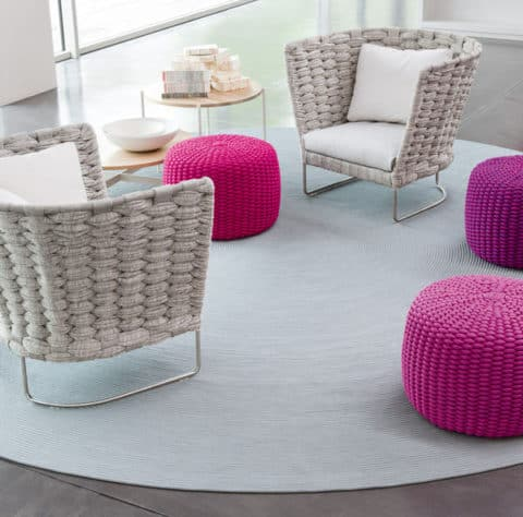 Colorful knitted furniture