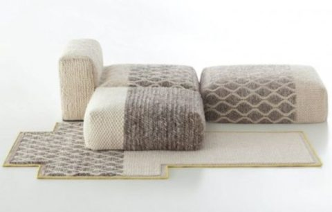 Cozy knitted furniture