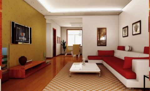 Fresh living room interior design