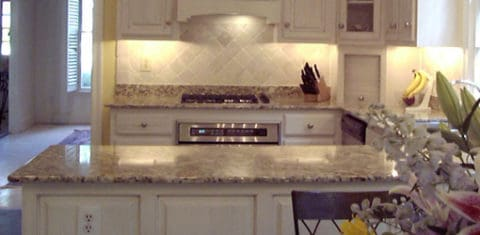 Kitchen countertops in classic style