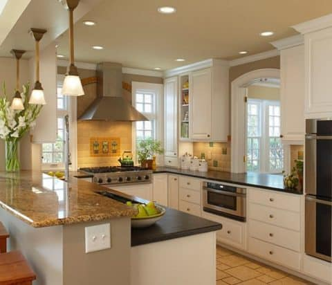 Kitchen design ideas with pendant lamp