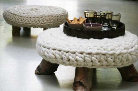 Knitted furniture and furnishing