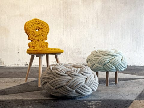 Knitted furniture by claire anne