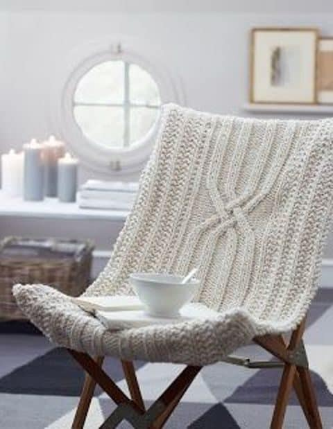 Knitted furniture cover