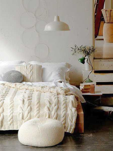 Knitted furniture for bedroom