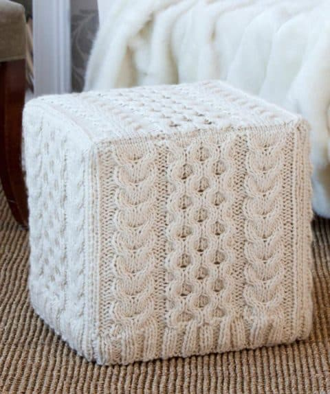 Knitted furniture table