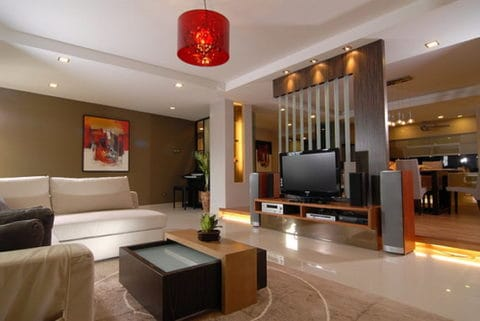 Living room interior design lighting