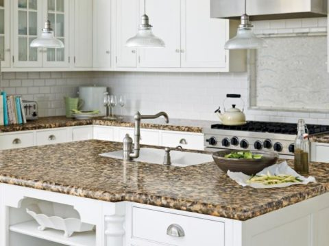 Mable kitchen countertops