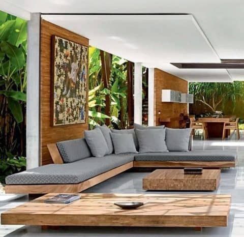Natural living room interior design