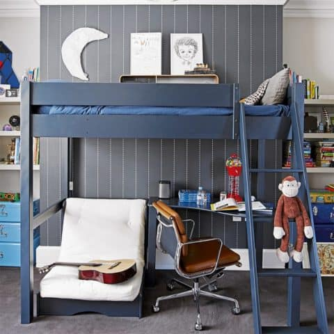 Teen boys room bunk beds