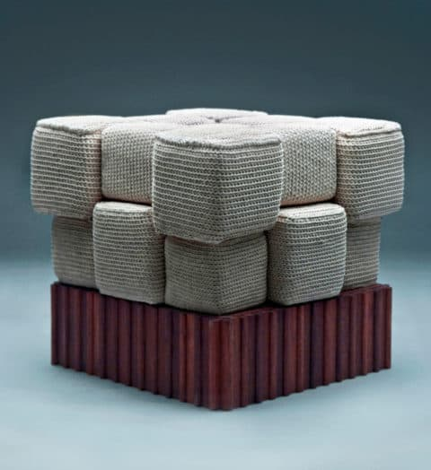 Unique knitted furniture concept