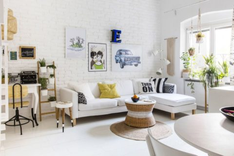 White small living room ideas