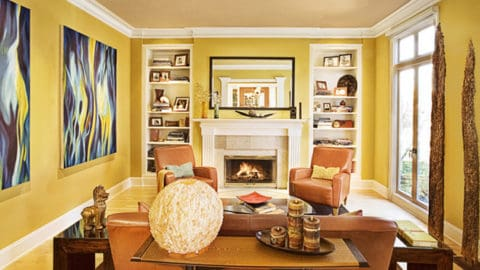 Artistic yellow living room ideas
