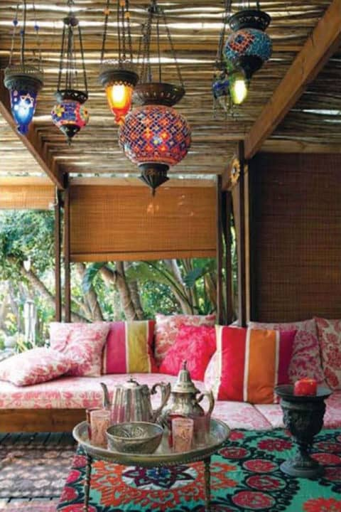 Boho home outdoor ideas