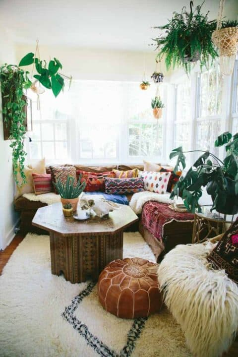 Boho home with natural concept