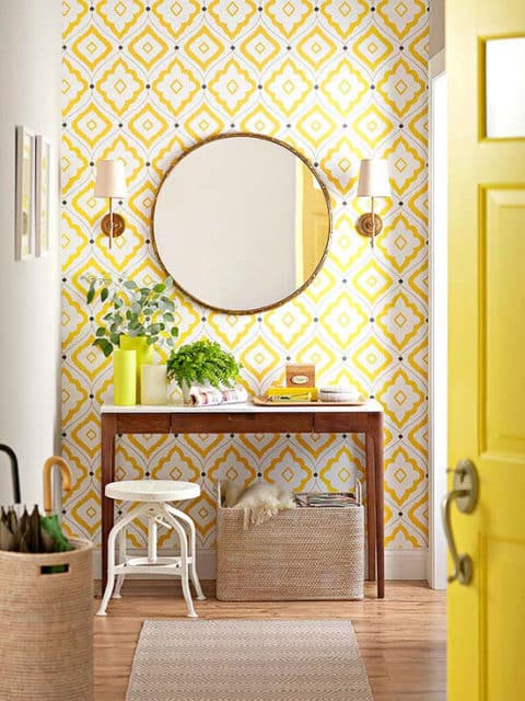 Bright entryway ideas