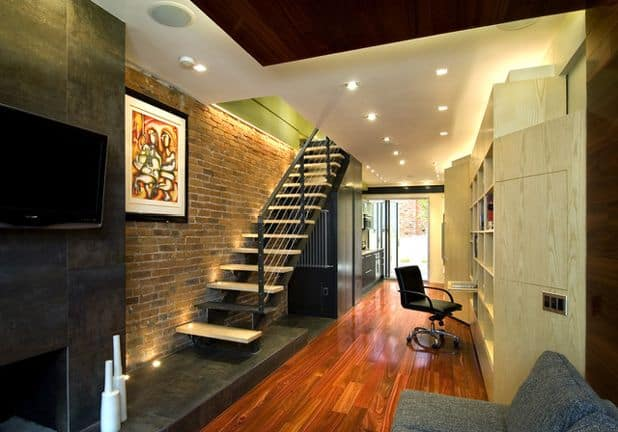 Contemporary row house interior design