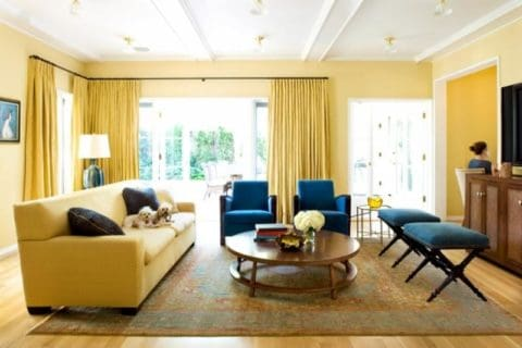 Cozy yellow living room