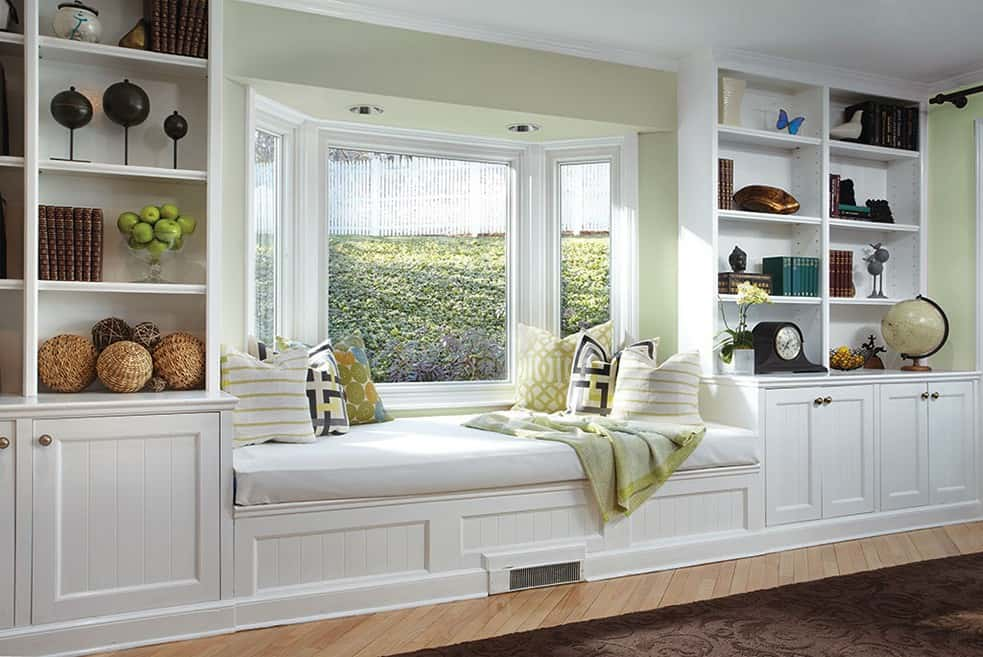 Furniture storage for bay window