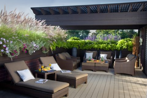 Minimalist rooftop deck ideas