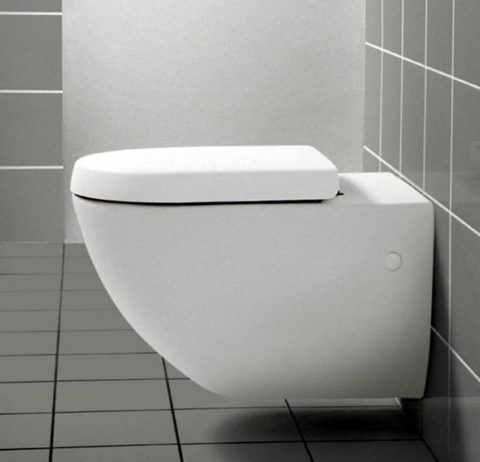 Modern wall mounted toilet