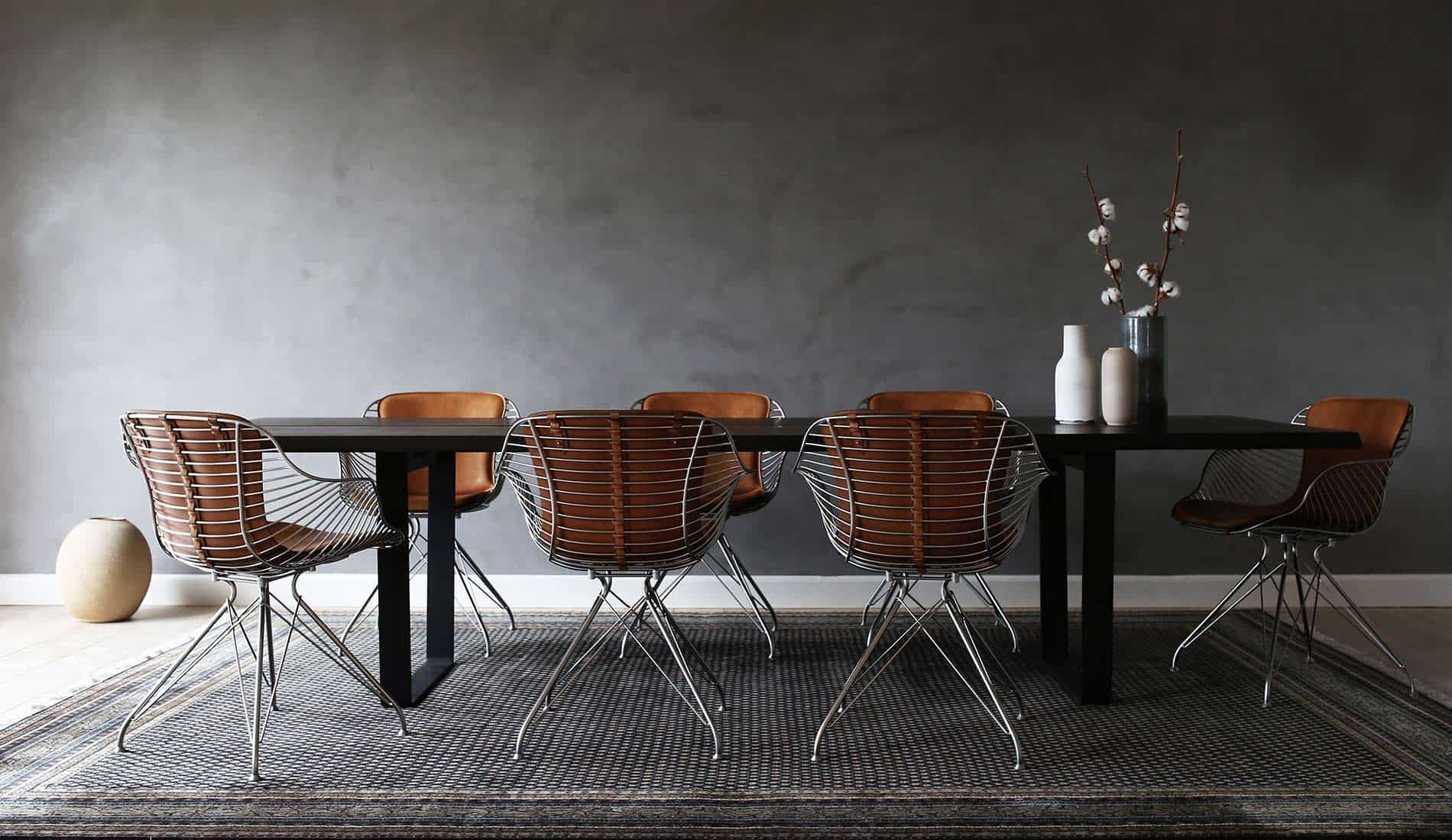 Most elegant wire dining chairs