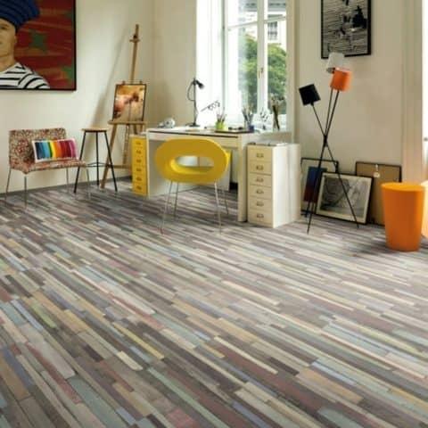 Multi color laminate flooring