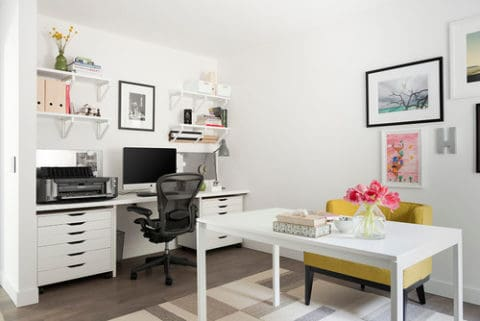 Off white home office
