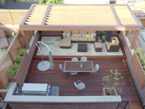 Rooftop deck ideas for wide area