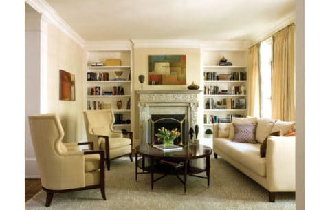 Row house interior design living room
