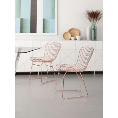 Simply wire dining chairs
