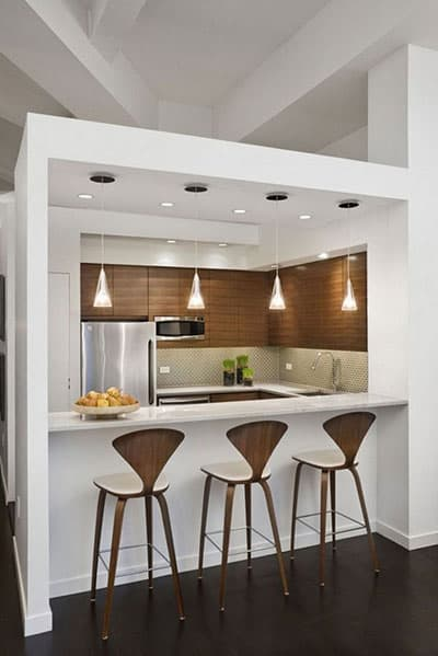 Stylish kitchen with a mini bar