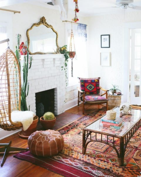 Traditional boho home