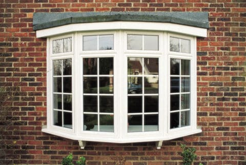Victorian style bay window