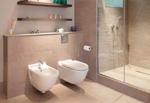 Wall mounted toilet for modern bathroom