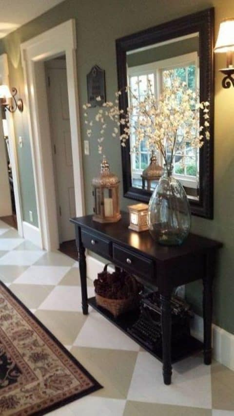 Warm entryway ideas