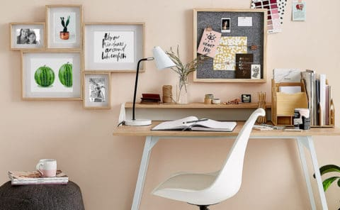 White home office theme