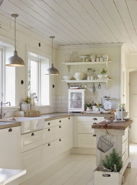 Small kitchen ideas in classical concept