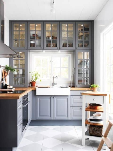 Small kitchen ideas in grey