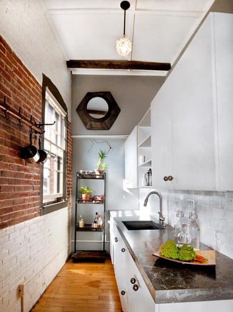 Small kitchen ideas with marble countertop
