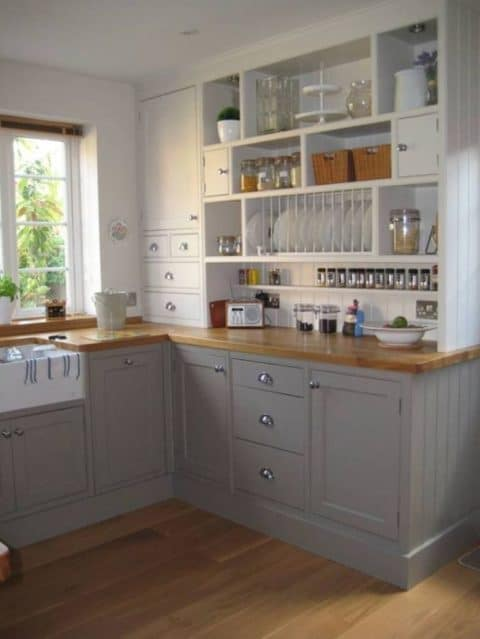 Small kitchen ideas with wooden floor