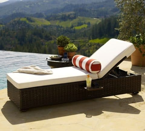 Adjustable outdoor chairs and loungers