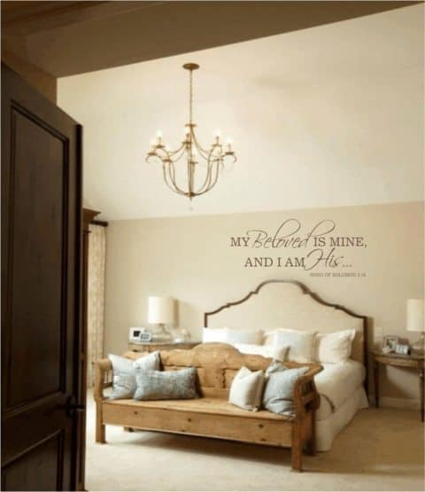 Bedroom wall decor quote