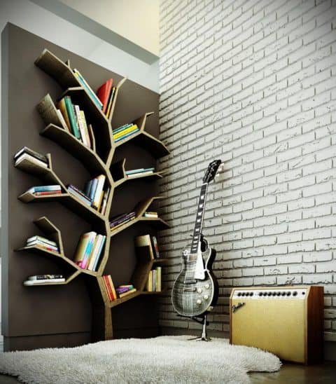 Bedroom wall decor shelves